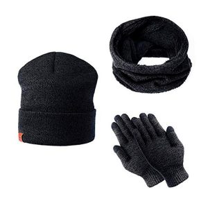 Gloves and woolly hats for hiking
